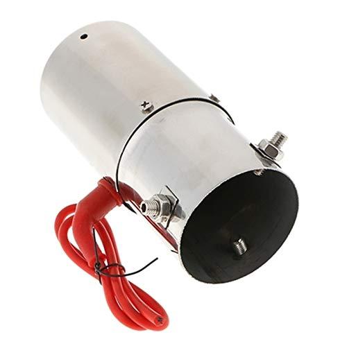YXWEI® 2X Auto-Auspuff-Rohr mit roter LED-Licht Universal-Fit 30 63mm