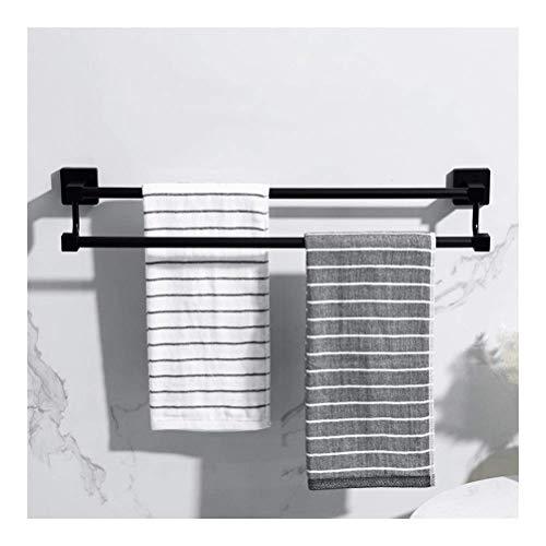 Towel Rail Storage Rails Stainless Steel Towel Rack for Bathroom Metal Showel Shelf Black Towel Bar Wall Mounted for Kitchen 40~80cm aw I-7 (Size : 80cm)
