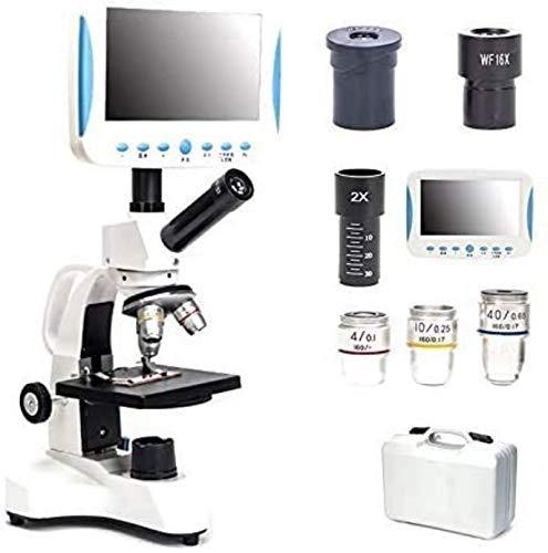 PFTHDE Geschenke für Kinder 5000 X Hd Spezial-Monokularmikroskop mit LCD, Mikroskop mit USB anbringen, beobachtetes Sperma, Milben, Wissenschaft, Labor, Aquakultur, Bluttropfendetektor