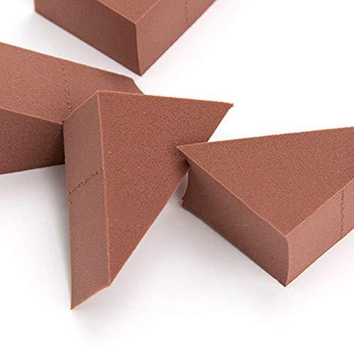 Poudre Puffs Maquillage Éponge Amovible Blending Blender Foundation Correcteur Applicateur Éponges Triangle Forme Détacher En 8 Pcs (chocolat)