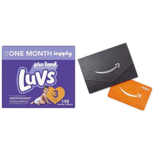 Luvs Ultra Leakguards Disposable Baby Diapers - Size 3, 198 Count, ONE Month Supply + $10 Amazon.com Gift Card