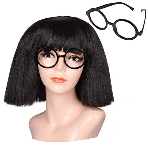 ColorGround Women and Kids Fluffy Medium Cruly Cut Bangs Wig