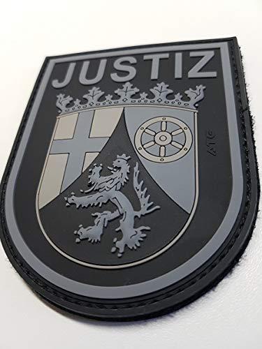 ATG Ärmelabzeichen JUSTIZ Rheinland-Pfalz 3 D Rubber Patch BlackOps