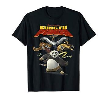 Kung Fu Panda Group Shot Action Portrait Movie Logo T-Shirt