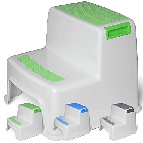 Premium Tritthocker von BEARTOP | sehr stabil (bis zu 100kg) | mit 2 Stufen | anti-rutsch-Beschichtung | 26cm hoch | Kinderhocker, Kindertritt, Trittschemel | ZUFRIEDENHEITSGARANTIE (3 Jahre)*