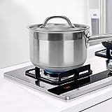 avec couvercle de marmite pratique avec poignée longue Poêle à sauce Marmite sans rouille pour cuisinière à induction, cuisinière électrique, cuisinière à gaz pour faire de la soupe,