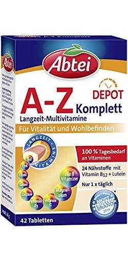 Abtei A-Z Complete Depot Komplett Langzeit Multivitamine, 50 g