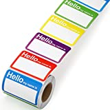 Methdic 5 Colors (Hello My Name is) Name Tags Stickers 400 Labels for Office, Meeting, School, Teachers and Mailing