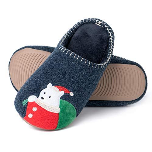 Zapatillas De Estar por Casa Mujer Invierno Espuma de Memoria Zapatillas de casa Antideslizantes Suave Pantuflas Animales Mujer Hombre