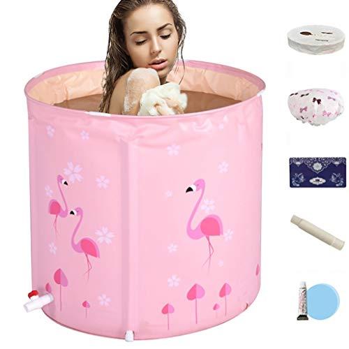 YONGJUN Badkuip, niet-opblaasbare kunststof badkuip voor douchecabine, vrijstaand draagbaar bad, 75x75cm,2 kleuren