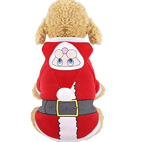 N / A Cane da Compagnia È Costumi di Natale, Babbo Natale Abbigliamento Accessori Cosplay per I Piccoli Cani Medi Abiti Cane Vestito Natale di Fantasia