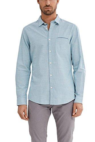 Esprit 037ee2f010 Camisa, Verde (Light Aqua Green), Large para Hombre