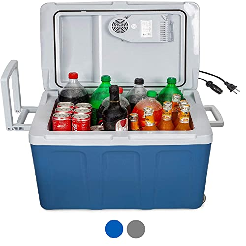 K-box Electric Cooler and Warmer with Wheels for Car and Home - 48 Quart (45 Liter) - 6 FT. EXTRA...