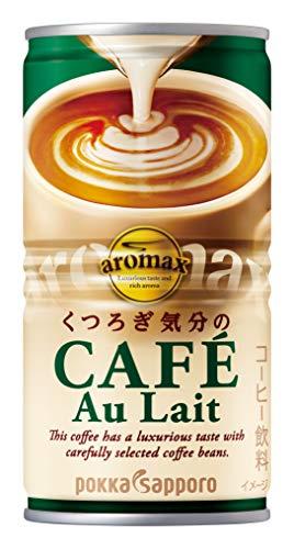 ポッカサッポロ アロマックス カフェオレ 190g 1箱 30缶