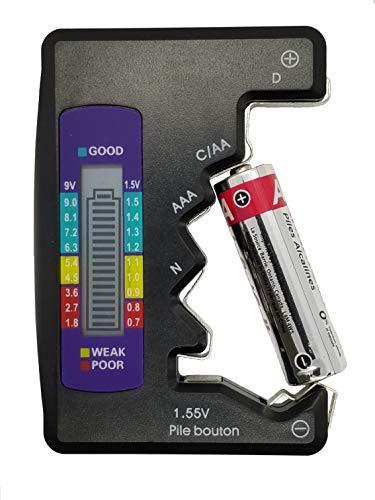 Digital Battery Tester, Universal Battery Tester, AA, AAA, N, C, D, 9V, 1.5V, Voltage Tester, MALTD.