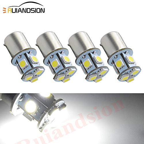 4pcs 1156 LED Bulbs 6V BA15S 200LM 5050 8SMD LED Replacement Bulbs for Reverse Turn Signal Tail Lights, Non-polarity