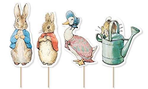 Creative Party- Peter Rabbit Cupcake Topper-12 Pz, J001
