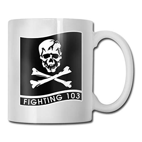 DSJRKSKEE VFA-103 Funny Gift Mug White Tea Brewing Cups 11 Oz