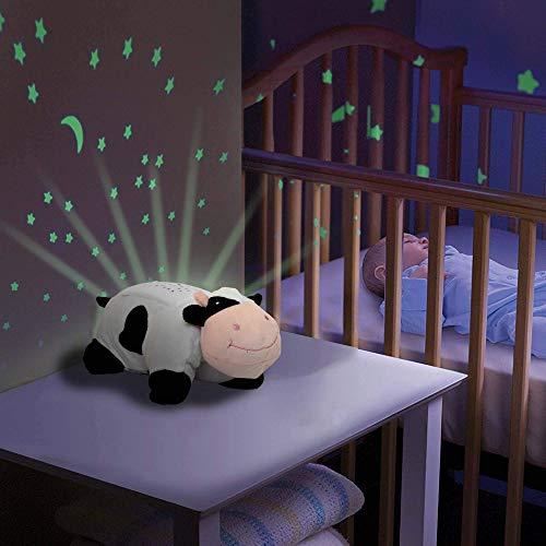 HSP Himoto 2in1 nachtlampje en sterrenhemel projector voor baby kinderkamer, 3 mogelijke LED-lichtjes (blauw, rood en groen) instelbaar, automatische off-functie en vele andere functies