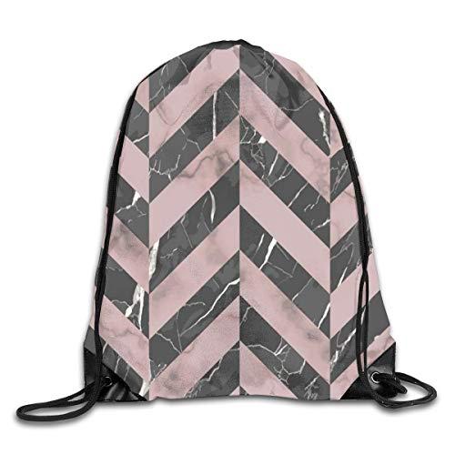 Drawstring Bag Rucksack Drawstring Backpack Marble Luxury Herringbone Seamless Pattern for Picnic Gym Sport Beach Yoga Drawstring Sackpack Bag 36X43CM