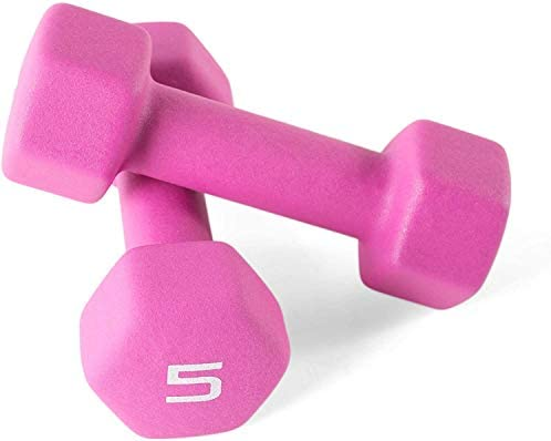 Cap Color Neoprene Dumbbell for Muscle Toning Strength Building Weight Loss Portable Weights product image