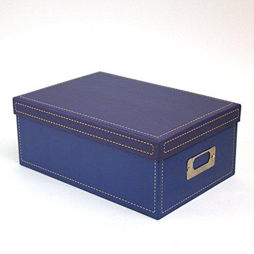 KVD Photo Storage Boxes, for 4x6 5x7 Photos, DVDs, CDs & Negatives, Blue