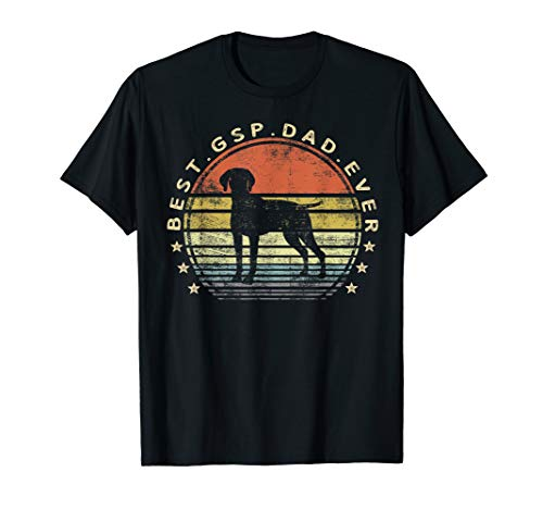 Mens Best GSP Dad Ever Dog Lover Owner German Shorthaired Pointer T-Shirt