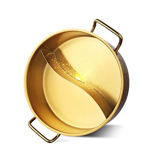 Sartén de Acero Inoxidable para Uso Diario, Olla Caliente Shabu Shabu, Olla Caliente con Base para Sopa, Olla de Acero Inoxidable, para el hogar y al Aire Libre, Apta para lavavajillas, 32 cm