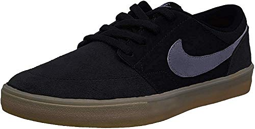 Nike SB Portmore II Solar, Scarpe da Skateboard Unisex-Adulto, Nero (Black/Dark Grey/Gum Light Brown 009), 41 EU