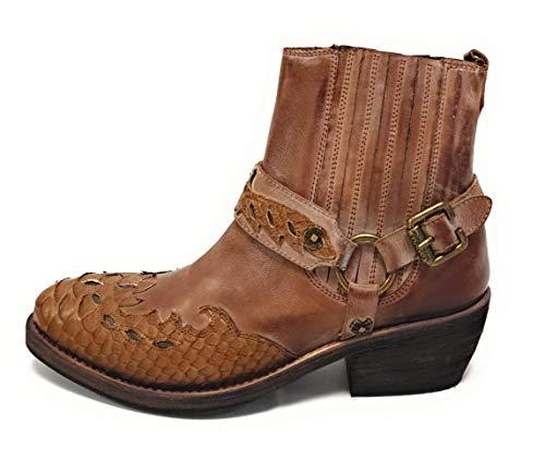 Sancho TR9560 Mask C/.Porcino Boots Herren Damen Cowboy Biker Western Stiefel (41 EU)