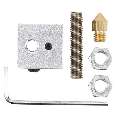 Bloc Chauffant en Aluminium, kit de Mise à Niveau d'extrudeuse d'imprimante 3D, Alliage d'aluminium Durable pour Mk7 Makerbot