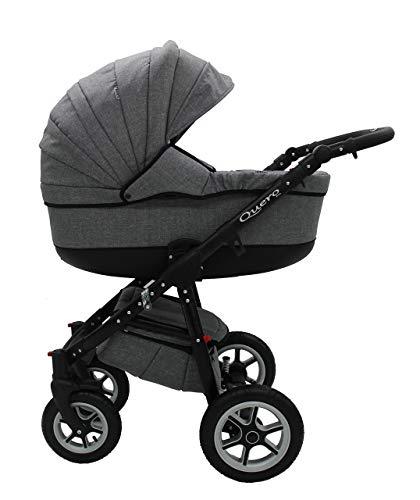 Kombi Kinderwagen Travel System QUERO BABYSPORTIVE 3in1 Buggy Sportwagen + Babyschale Carlo 0-10kg (2. anthrazit)