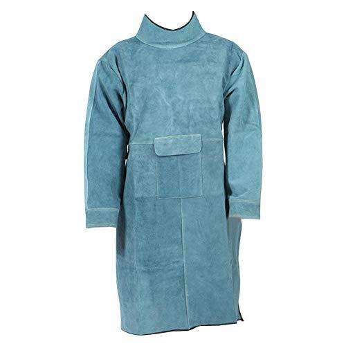 Draulic Schweißarbeitsschürze Einteilige verschleißfeste Lederschweißschürze Schweißbekleidung zur Verhinderung von Spritzwasser