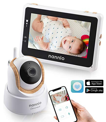 Nannio Connect Video Baby Monitor with Mobile APP 4.3 inch Touch Screen Parent Unit and HD Pan-Tilt-Zoom Camera, Available for iOS and Android,Outstanding Night Vision,VOX and Temperature Alert … Monitors