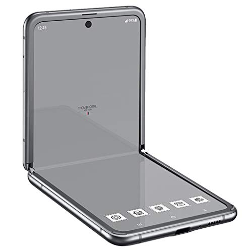Price comparison product image Samsung Galaxy Z Flip Thom Browne Edition SM-F700F / DS 256GB (GSM Only / No CDMA) Factory Unlocked Android 4G / LTE Smartphone (Grey) - International Version