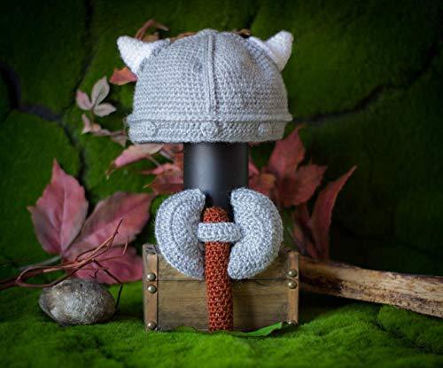 Viking-Hut und Rassel Baby Axt Ideal für Kinder Vikings