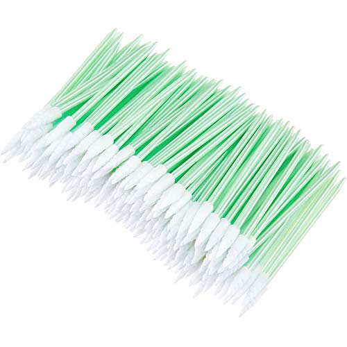 200 Pieces Foam Cleaning Swab Sticks Foam Tip Cleaning Swabs Sponge Stick for Inkjet Printer, Print Head, Camera, Optical Lens, Optical Equipment (Spiral Tip)