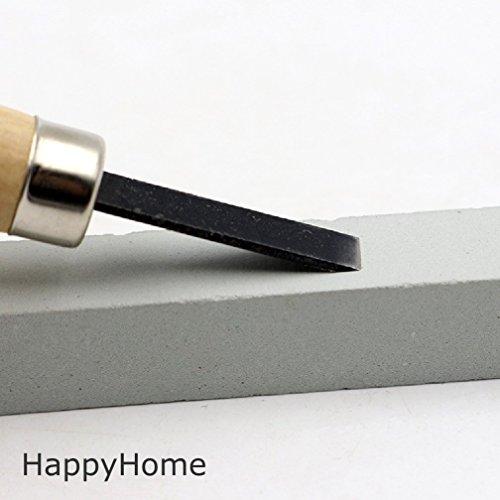 【HappyHome】彫刻刀12本セット砥石付き収納ケースクリーニングクロス付き木彫り木工道具