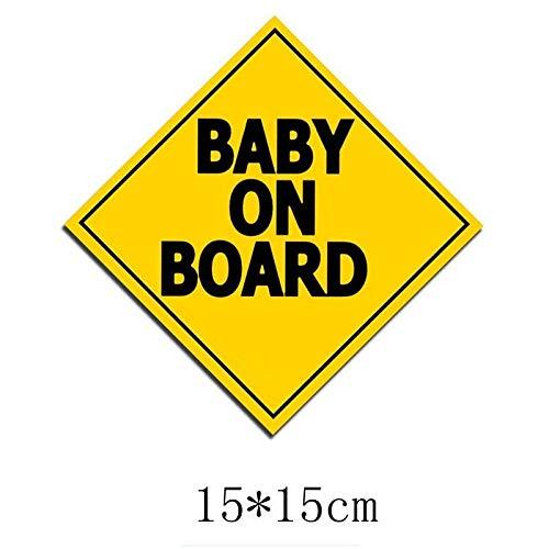 RSZHHL Etiqueta engomada del coche TZ-1707#15 * 15cm bebé a bordo colorido coche pegatinas divertidas auto pegatinas