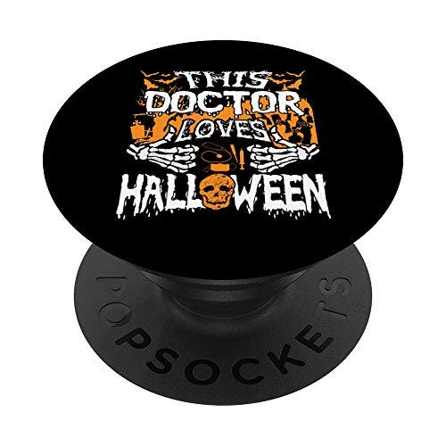 Este mdico ama Halloween Huesos Cirujano Divertido Mdico PopSockets PopGrip Intercambiable