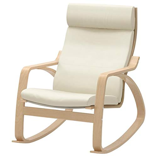 POÄNG Rocking-chair, birch veneer, Glose eggshell, 68x94x95 cm durable and easy to care for. Leather armchairs. Armchairs & chaise longues. Sofas & armchairs. Furniture. Environment friendly.