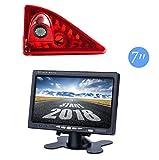 Telecamera di retromarcia integrata in 3° luci di freno, set per Opel Movano/Vauxhall Movano/Renault Master/Nissan NV400 + monitor DVD TFT da 7,0 pollici