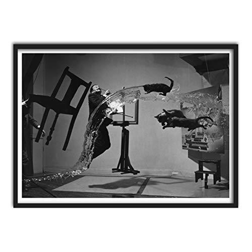 Feitao Dali Atomicus Arte De La Pared Carteles E Impresiones Pintura Cuadro De La Pared Salvador Dali Para La Sala De Arte Decoracion -20X28 Pulgadas Sin Marco