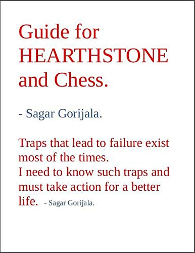 Guide for HEARTHSTONE and Chess. (English Edition)