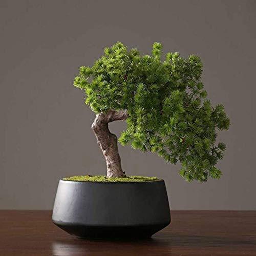 Zyj stores Künstliche Bonsai-Baum-Fälschungs-Pflanze Dekoration Topf Künstliche Zimmerpflanzen Pine Bonsai-Anlage for Home Decoration Desktop Display