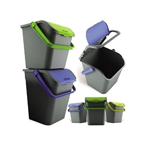 IRPot - SET 3 X PATTUMIERE ECOLOGIC 28L EC28 RACCOLTA DIFFERENZIATA