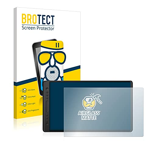 BROTECT Protector Pantalla Cristal Mate Compatible con Huion Kamvas Pro 16 Protector Pantalla Anti-Reflejos Vidrio, AirGlass