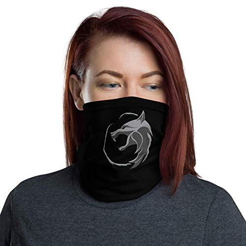 Games of Future Past Neck Gaiter Breathable, Dust-Proof & 4-Way Stretchable (Witcher TV Show Wolf's Head Medallion)
