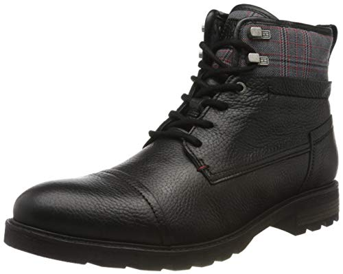 Tommy Hilfiger Winter Leather Textile Mix Boot, Botas Clasicas para Hombre