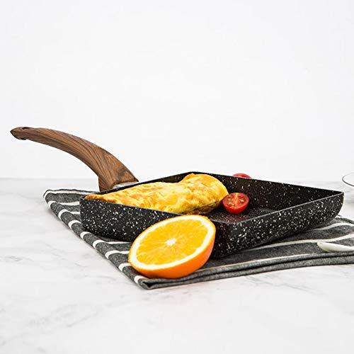 Gind Utensili da Cucina per la casa Padella per cuocere Le Uova Padella per bistecche con Manico per fornello a Gas e a induzione per fornello a Gas fornello Elettrico in Ceramica fornello a